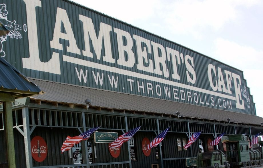 Lambert S Cafe The Only Home Of Throwed Rolls Sikeston Mo Ozark Foley Al